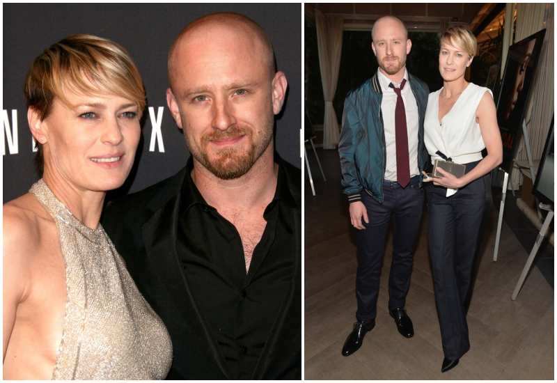 Ben Foster's family - ex-fiancee Robin Wright