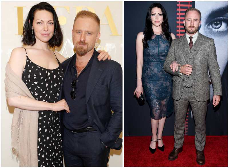 Ben Foster's family - wife Laura Prepon