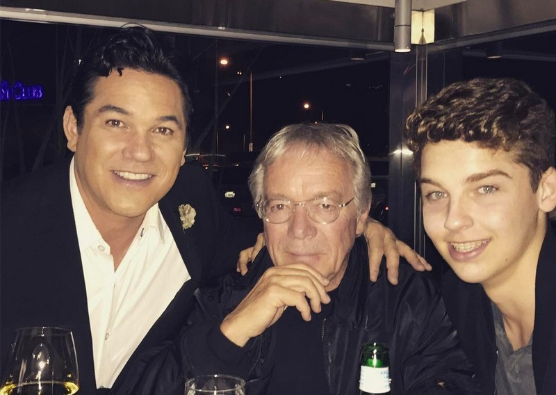 Dean Cain's family - father Christopher Cain and son
