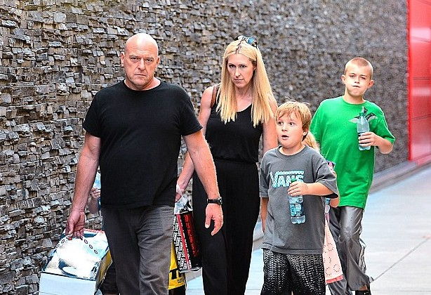 Dean Norris' family - wife Bridget and kids