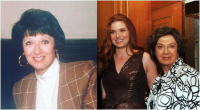 """Debra Messing's family - mother Sandra """"Sandy"""" Messing"""