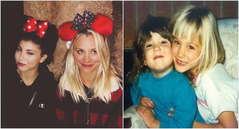 Kaley Cuoco's siblings - sister Briana Justine Cuoco
