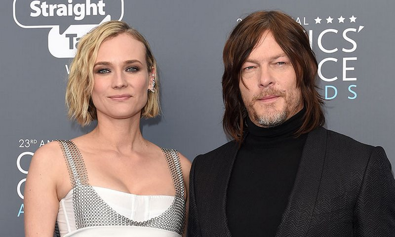Norman Reedus' family - girlfriend Diane Kruger