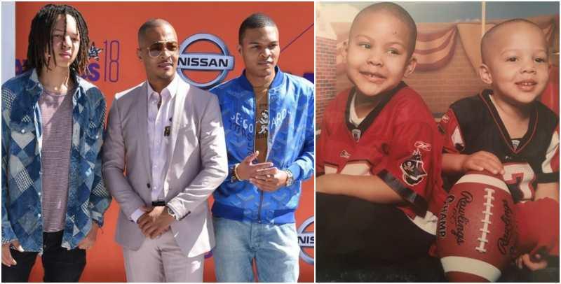 Tip Harris children - 2 sons with Lashon Dixon