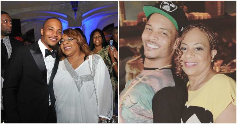 Rapper Tip Harris' large blended family