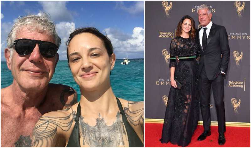 Anthony Bourdain's family - girlfriend Asia Argento