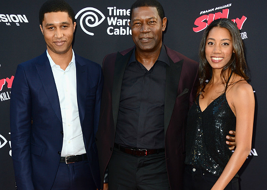 Dennis Haysbert's children - son and daughter