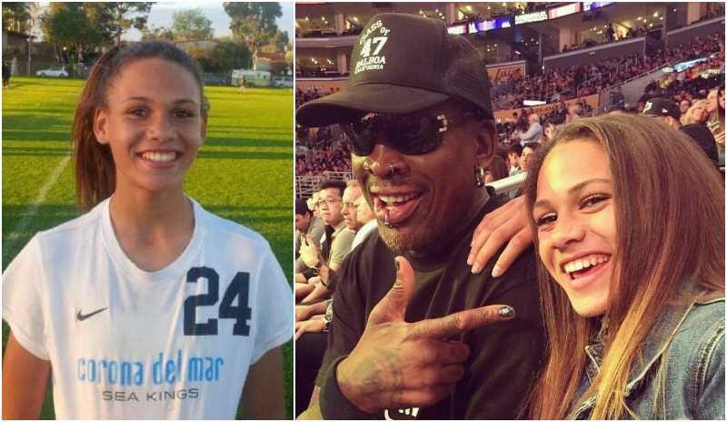 Dennis Rodman's children - daughter Trinity Rodman