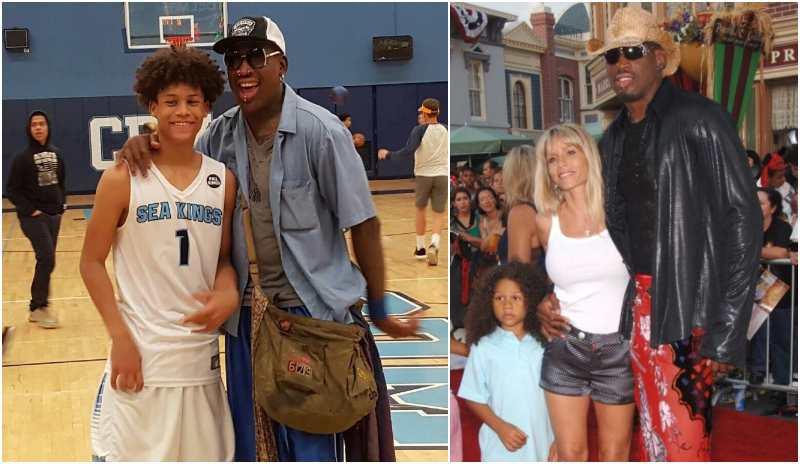 "Dennis Rodman's children - son Dennis ""D.J."" Rodman Jr."
