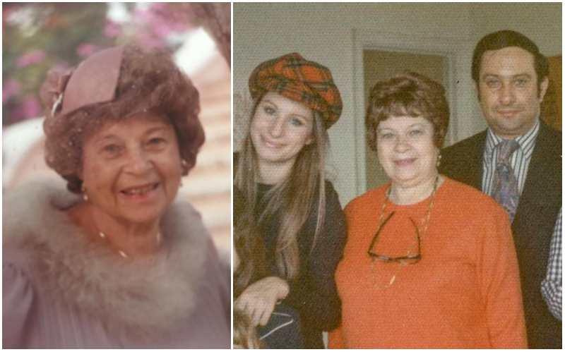 Barbra Streisand's family - mother Diana Ida Streisand