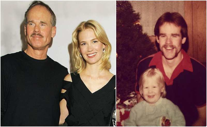 January Jones' family - father Marvin Jones