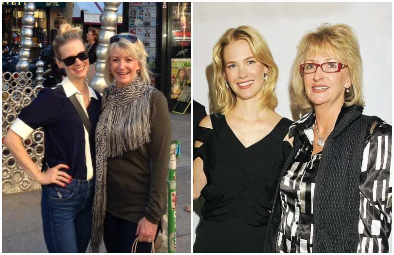 January Jones' family - mother Karen Cox Jones