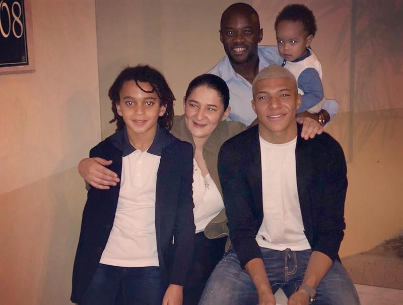 Kylian Mbappe's family - mother Fayza Lamari