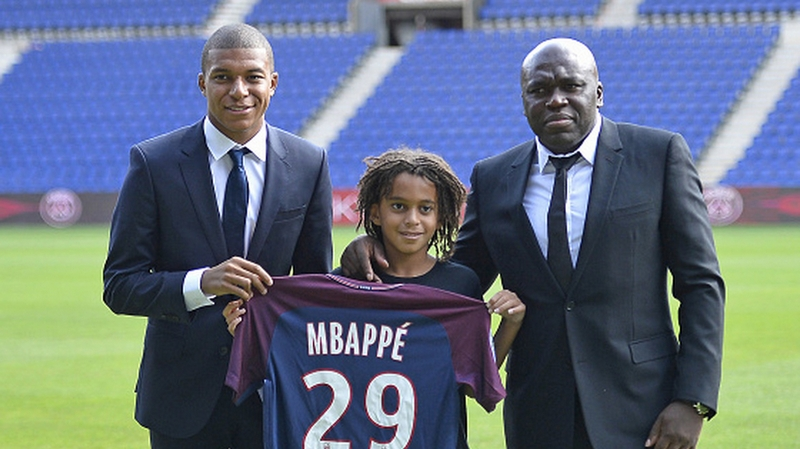 Kylian Mbappe's family - father Wilfried Mbappe and brother