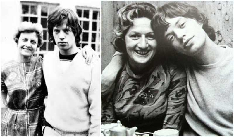 Mick Jagger's family - mother Eva Ensley Mary Scutts