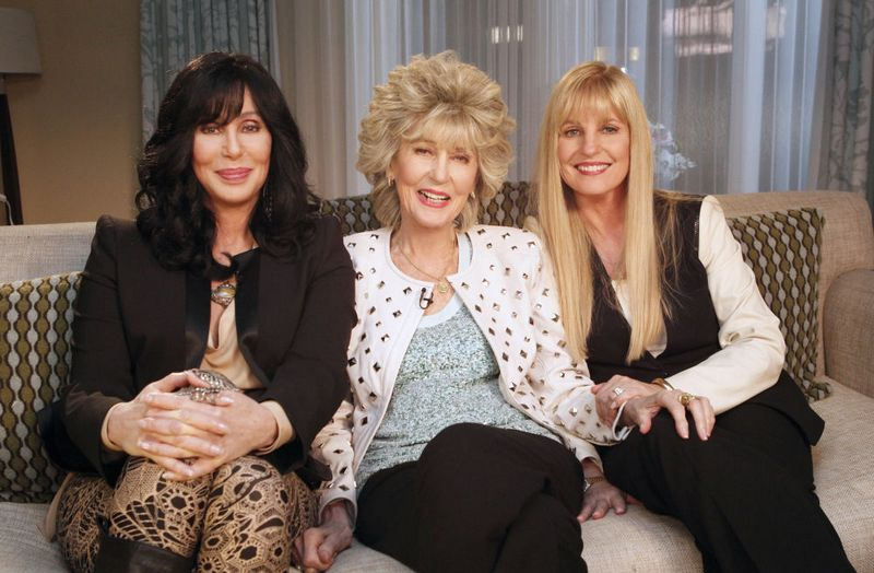 Cher's family - mother and half-sister Georganne LaPiere