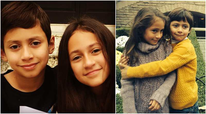 Marc Anthony's children - twins Maximilian David and Emme Maribel Muniz