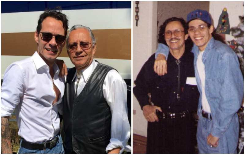 Marc Anthony's family - father Felipe Muniz