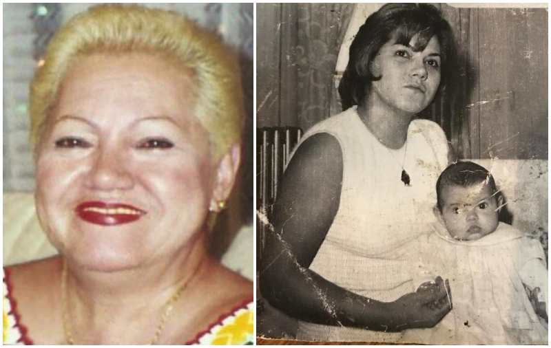 Marc Anthony's family - mother Guillermina Muniz