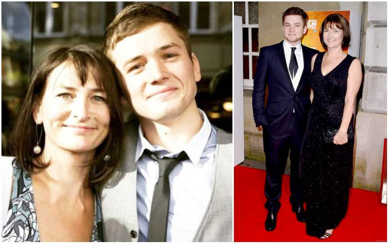 Taron Egerton's family - mother Christine Pound