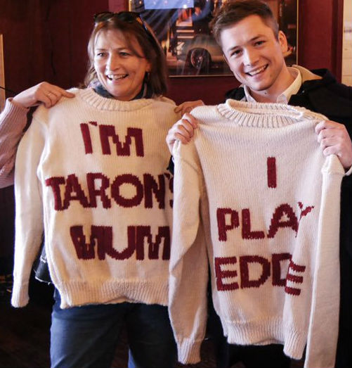 "Taron Egerton's family - mother Christine ""Tina"" Egerton"