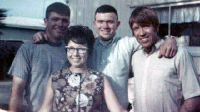 Chuck Norris' family - mother and brothers