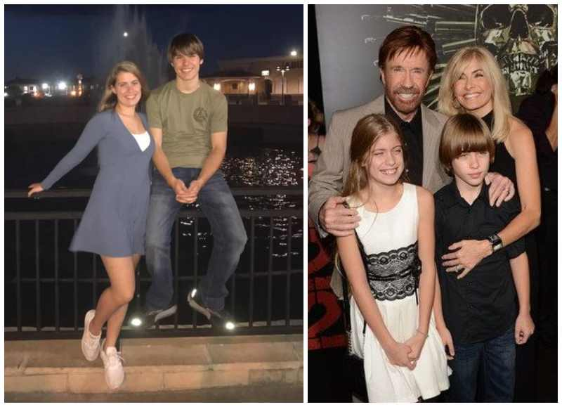 Chuck Norris' children - twins Danilee Kelly and Dakota Alan Norris