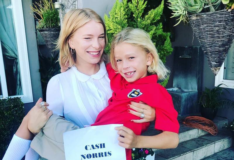 Chuck Norris' grandchildren - granddaughter Chantz and grandson Cash