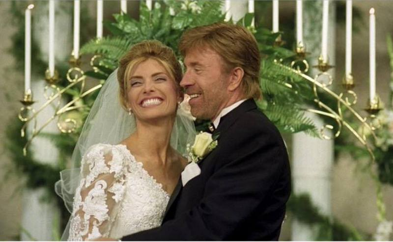 Chuck Norris' family - wife Gena O'Kelley Norris