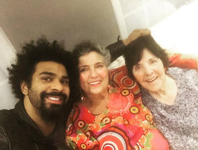 David Haye's family - grandmother Sylvia Barnett