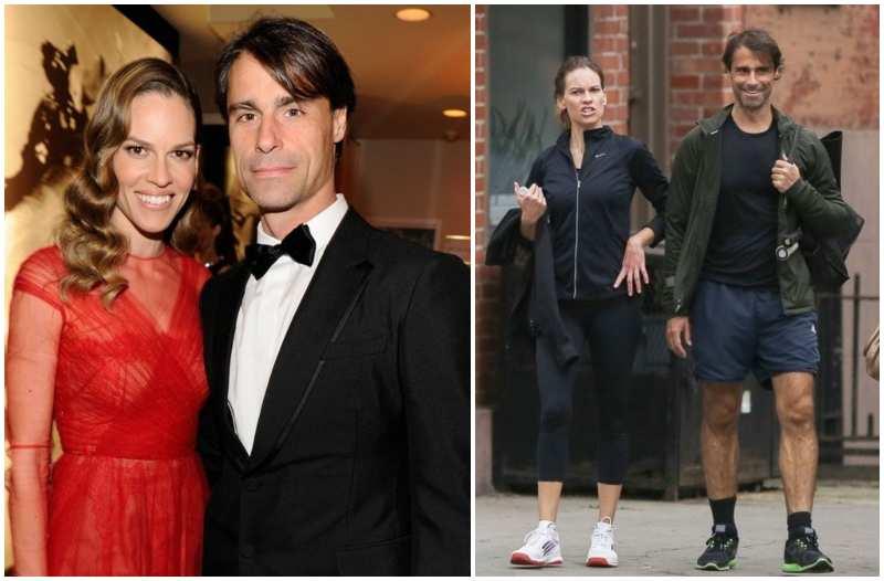 Hilary Swank's family - ex-boyfriend Laurent Fleury