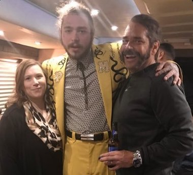 Post Malone's family - stepmother Jodie Post and father