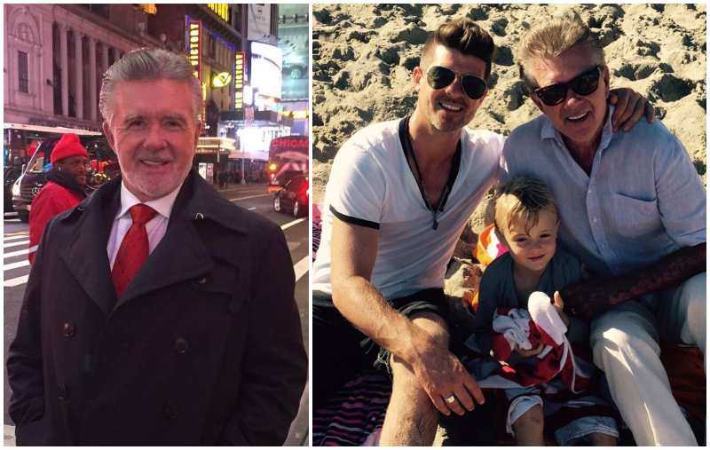 Robin Thicke's family - father Alan Thicke