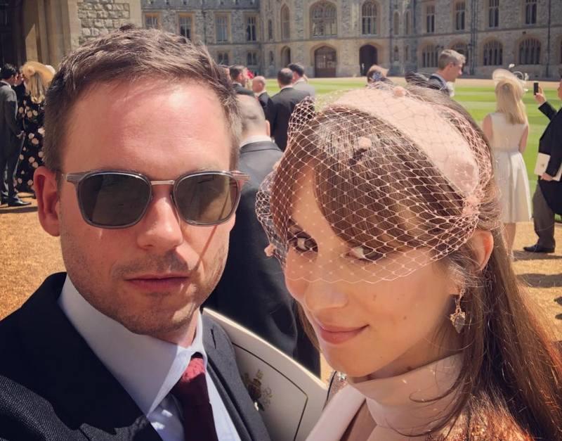 Patrick J. Adams' family - wife Trojan Bellisario