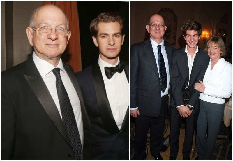 Andrew Garfield's family - father Richard Garfield