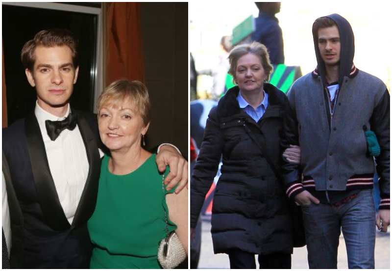 Andrew Garfield's family - mother Lynn Garfield