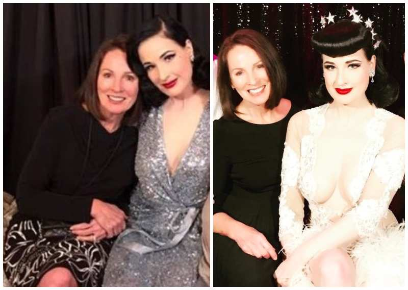 Dita Von Teese's family - mother Bonnie Lindsey