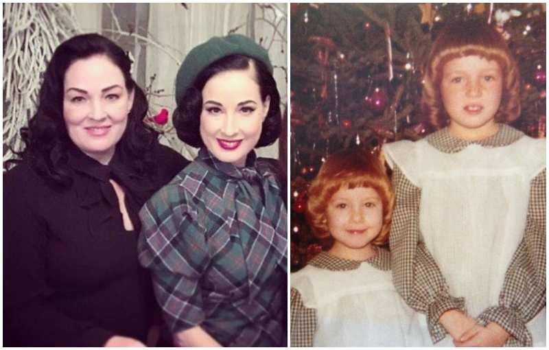 """Dita Von Teese's siblings - sister Jennifer """"Jena"""" Von Teese"""
