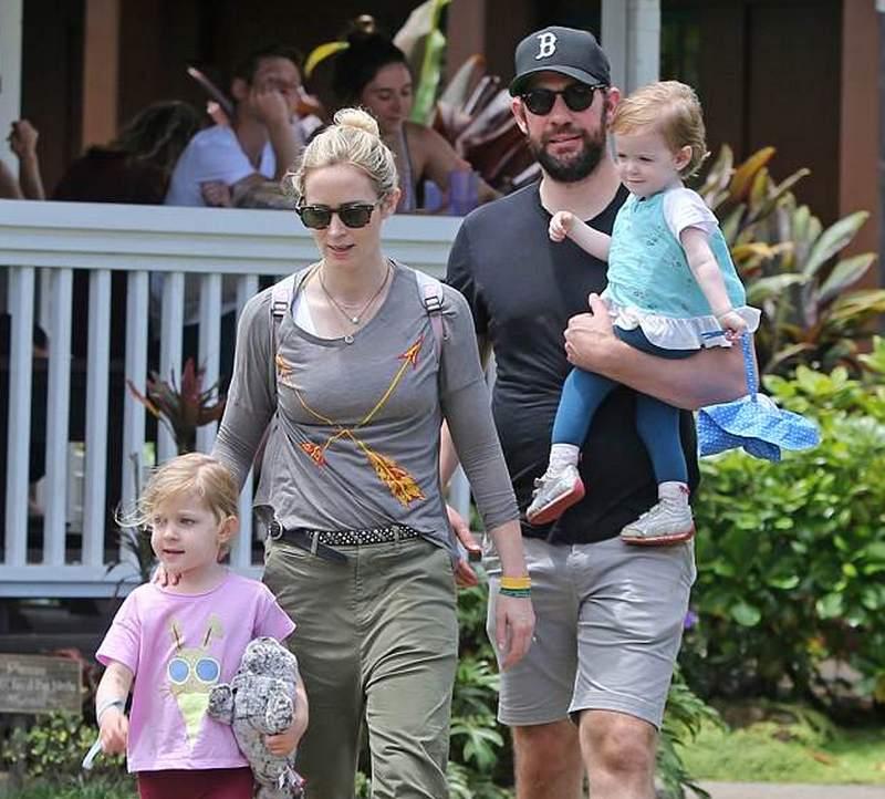 Emily Blunt's children - daughters Violet and Hazel Krasinski