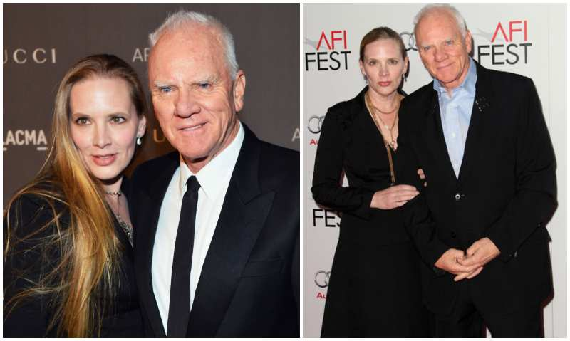Malcolm McDowell's family - wife Kelley Kuhr