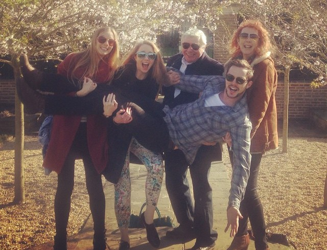 Nicholas Hoult's family