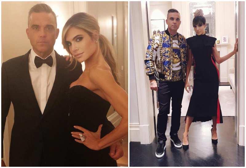 Robbie Williams' family - wife Ayda Field