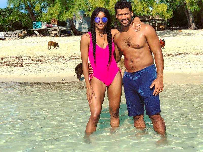 Ciara's family - husband Russell Wilson