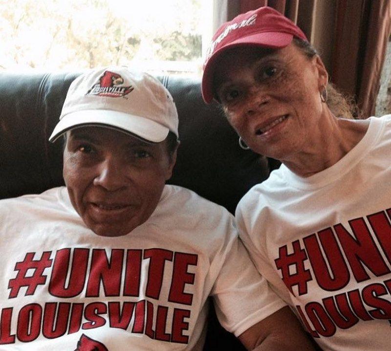 "Muhammad Ali's family - wife Yolanda ""Lonnie"" Ali"