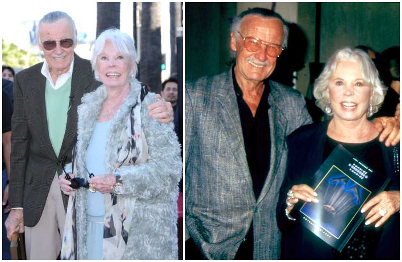 Stan Lee's family - wife Joan Boocock Lee