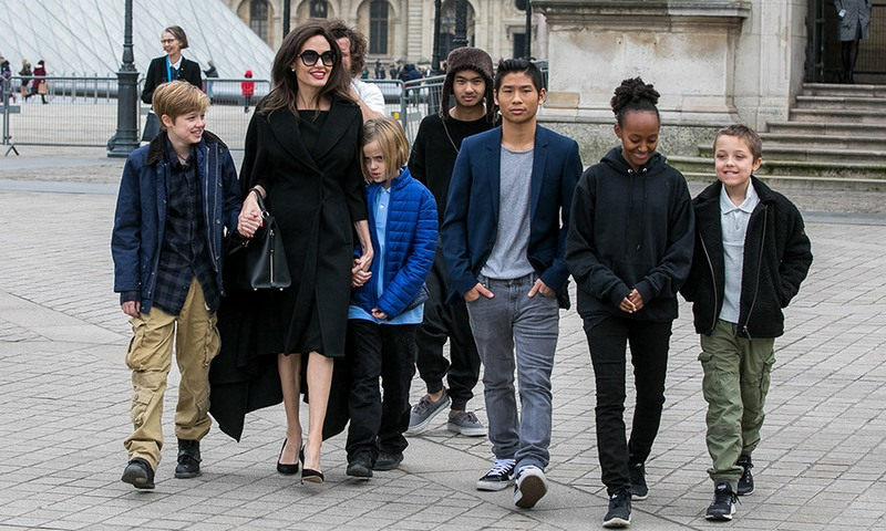Famous People Who Have 6 Children - Angelina Jolie