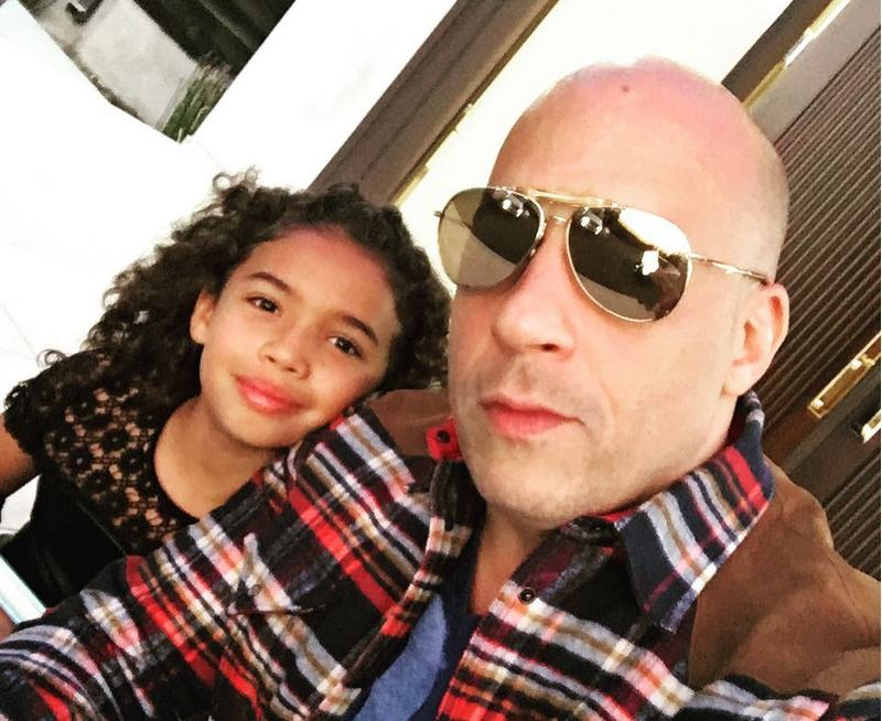 Vin Diesel's children - daughter Hania Riley Sinclair