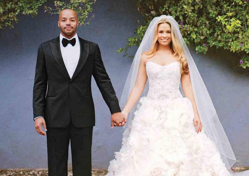 Donald Faison's family - wife CaCee Cobb