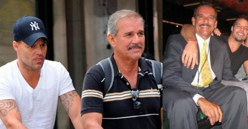 Ricky Martin's family - father Enrique Martin Negroni