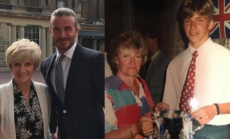 David Beckham's family - mother Sandra Georgina West